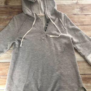 3/4 sleeve Soft Surroundings hoodie petite small
